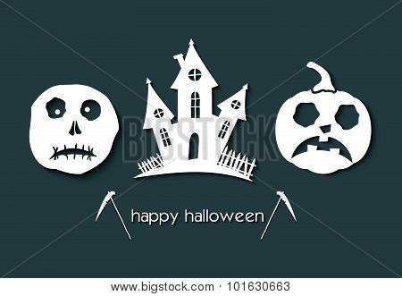 Halloween Party Night Brochure, Poster, Banner Or Background