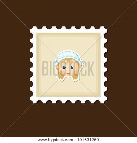 American Pilgrim Children Stamp, Thanksgiving Day