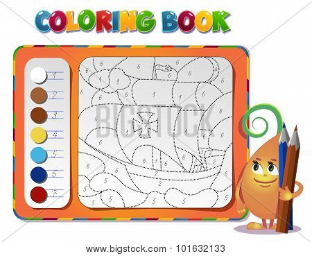Coloring Book About Ship