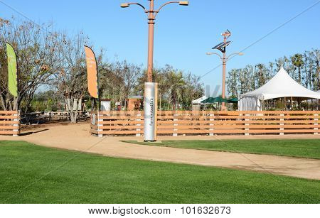 IRVINE, CA - FEBRUARY 10, 2015: Great Park Farm and Food Lab. A one acre plot in Irvine's Great Part established as a demonstration of sustainable urban agriculture offering lectures and workshops.