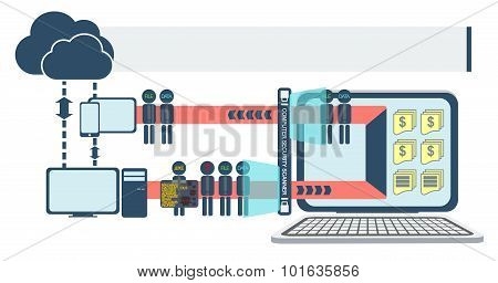 Computer And Network Security Infographic Vector