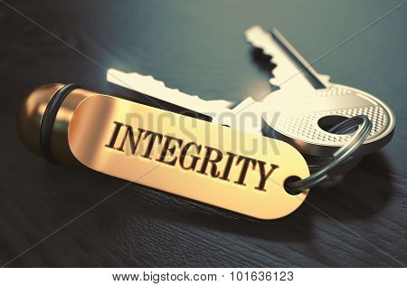 Integrity Concept. Keys with Golden Keyring.