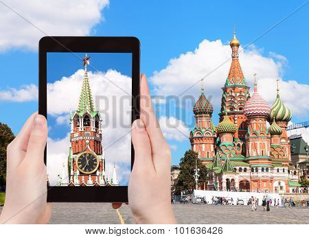 Picture Of Vasilevsky Descent On Moscow Red Square