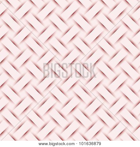 Abstract Brown Weave Texture, Embossed Shadow Background Vector