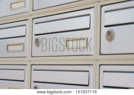 Steel letter boxes