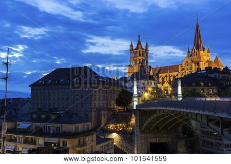 Lausanne Cathedral In Switzerland