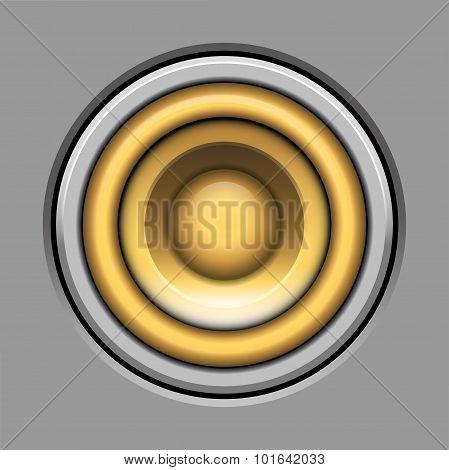 Sound-system Speaker Vector  Illustration Icon Over Gray
