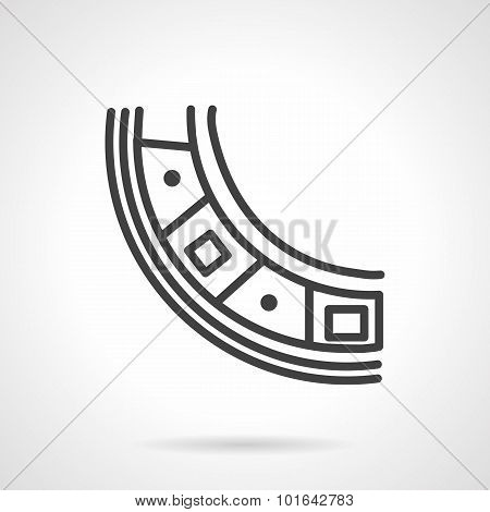 Bearing segment simple line vector icon