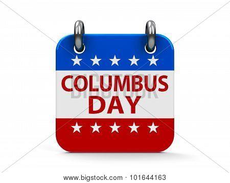 Columbus Day Icon Calendar