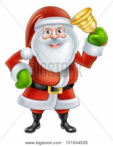 Cartoon Santa Ringing Bell