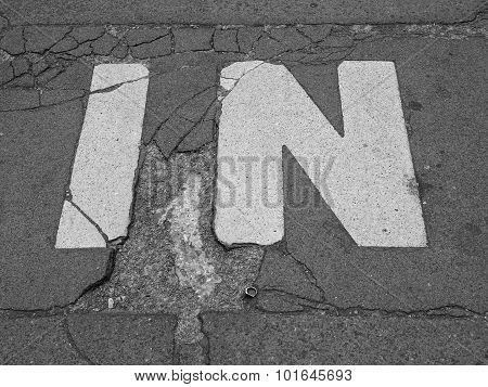 Black And White In Sign