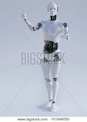 Male Robot Doing A Presentation Nr 1.