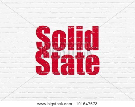 Science concept: Solid State on wall background