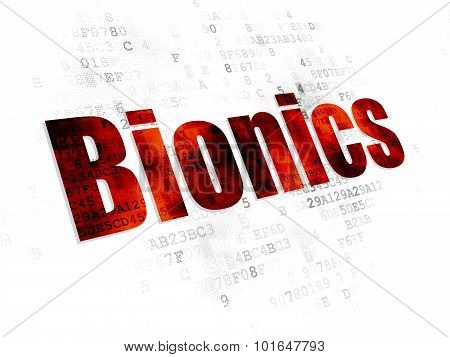 Science concept: Bionics on Digital background