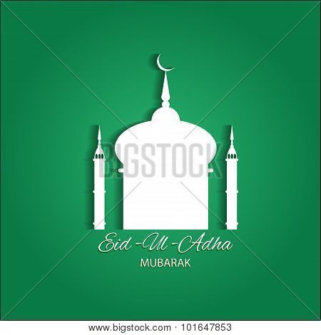 Beautiful Text Design Of Eid Ul Adha Mubarak. Vector Illustration Eps 10