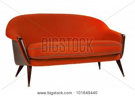 Retro Style Red Sofa Sixties Style Antique