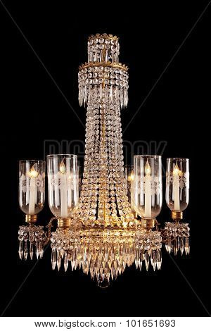 Hanging Crystal Glass Chandelier