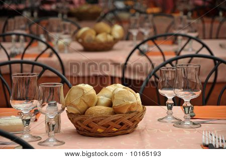 Dinner table by Lake Como
