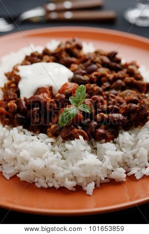 Chili con carne with Basmati rice