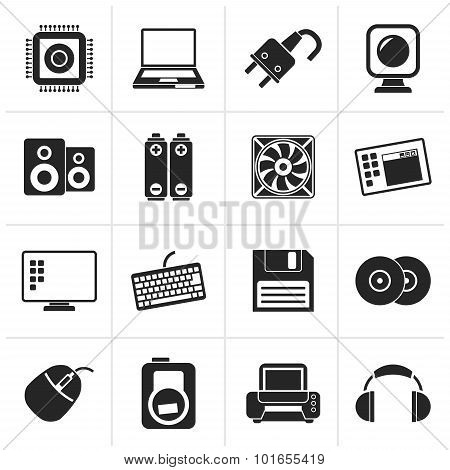 Black Computer Items and Accessories icons