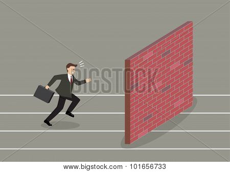 Businessman Race To Dead End