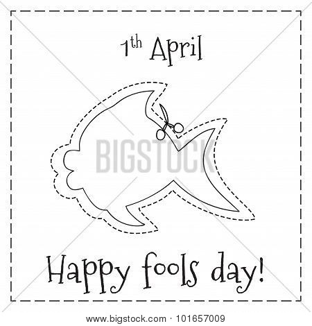 Poster with fish figure for first April