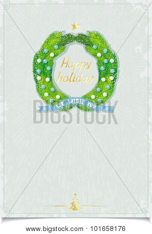 Christmas template with Advent wreath
