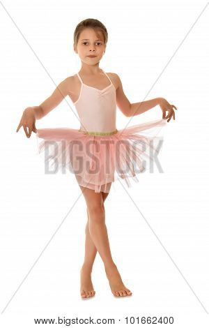 Cute little gymnast