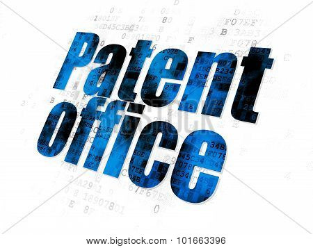 Law concept: Patent Office on Digital background