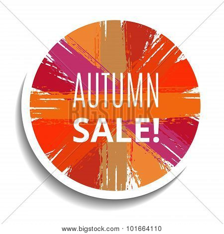 Vector Sale Tag from Brush Strokes