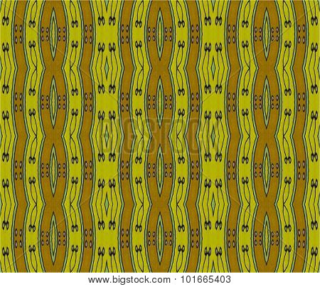 Seamless stripes pattern green brown
