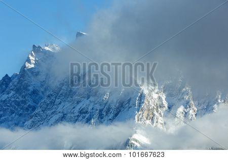 Winter Mountain Landscape (austria, Tiroler Alpen).