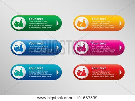 Apple And Pear And Infographic Design Template, Business Concept.