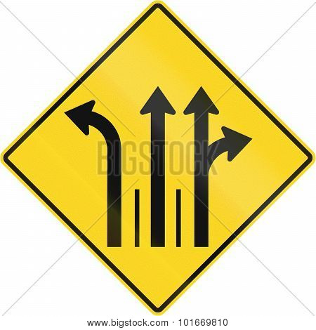 Three Lanes With Left Turn Lane In Canada