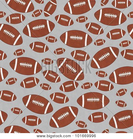 Brown And Gray Football Tile Pattern Repeat Background