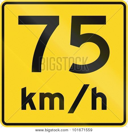 Speed Limit 75 Kmh In Canada