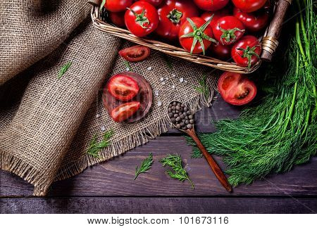 Tomato, Pepper And Herbs