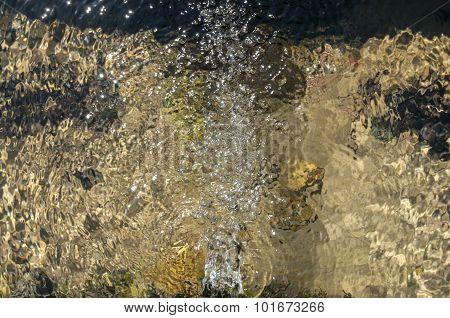 Fresh jet mountain spring water