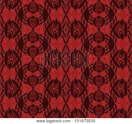 Seamless ornaments red brown shiny