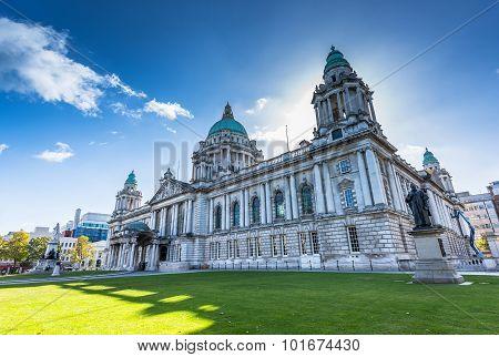 The city hall of Belfast North Ireland