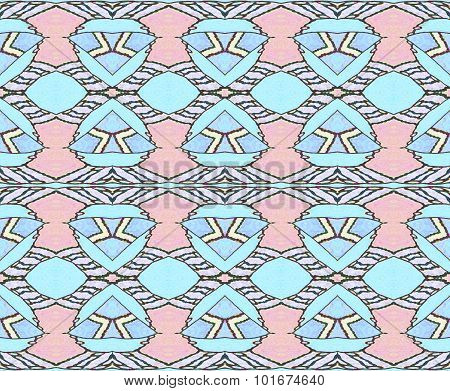 Seamless pattern pink blue