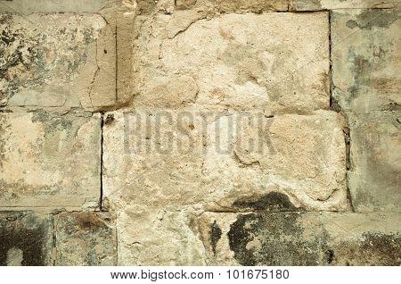 Ancient White Stone Brick Masonry Texture