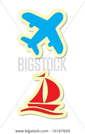 Plane And Ship Icons