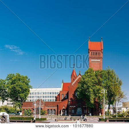 Belarussian Roman Catholic Church Of Saints Simon And Helen - Red Church-  On Independence Square In