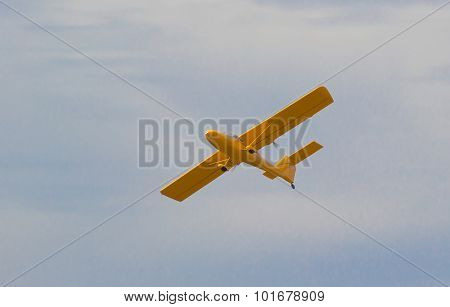 Small plane in the air.
