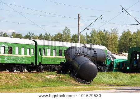 Crash Of Trains: The Passenger Train Collided With The Freight Train