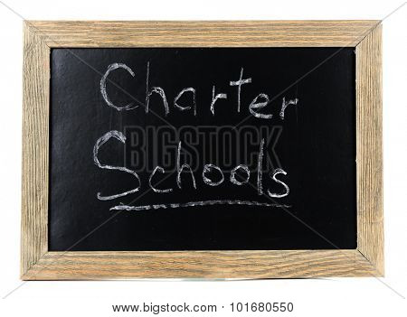 Charter Schools written on chalkboard