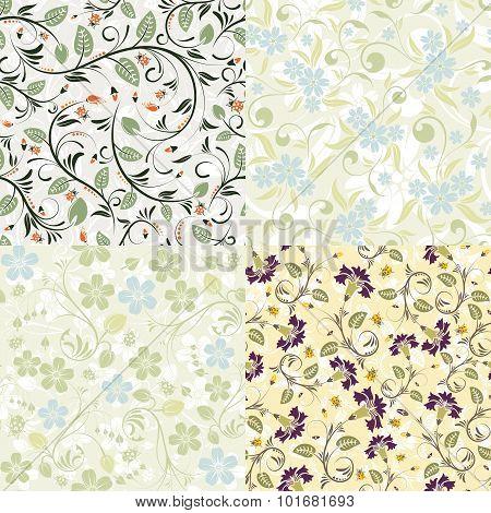 Flower Seamless Patterns