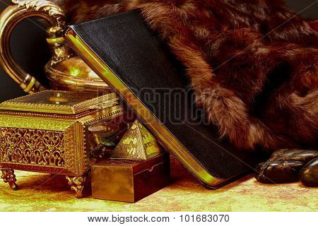 Ancient Book Of Knowledge With Treasures