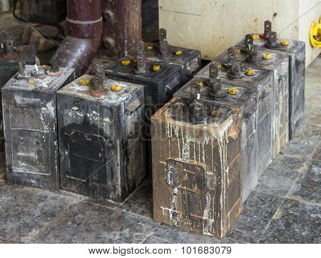 Rusty Old Car Battery.